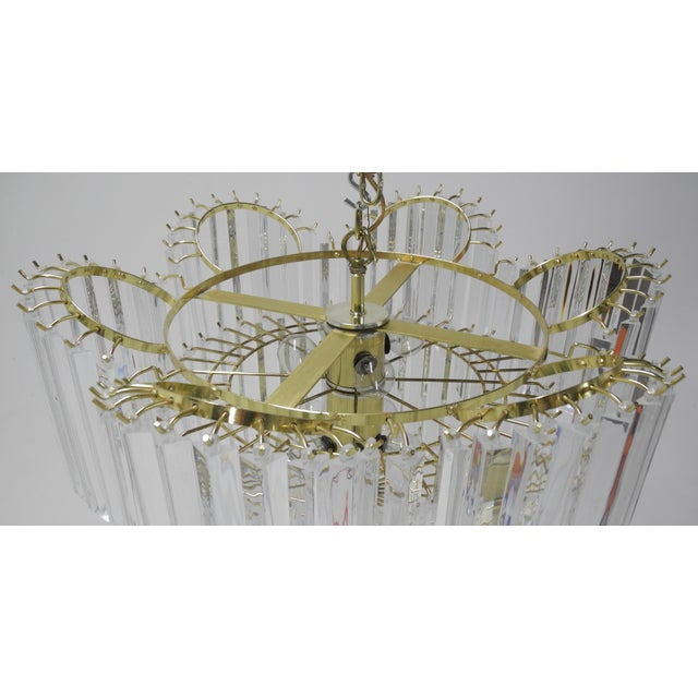 Murano Style Lucite Waterfall Chandelier For Sale - Image 9 of 9