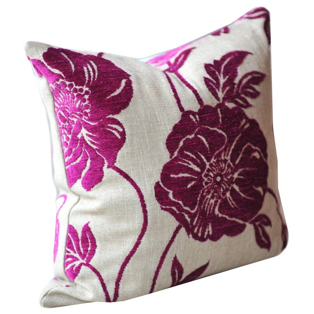 Pink Poppy Pillow Covers - Pair For Sale