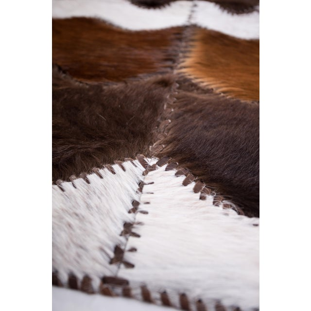 """Cowhide Patchwork Area Rug - 4' x 6'4"""" - Image 7 of 8"""
