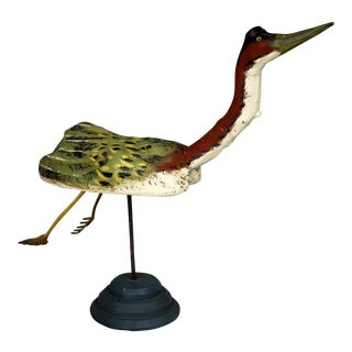 Folk Art Driftwood Sculpture of Large Waterfowl by Kilbride of Vermont Folk Art For Sale