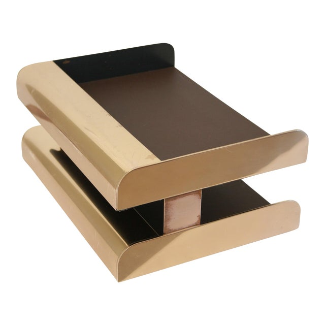 William Sklaroff Radius Two Brass Desk Tray For Sale