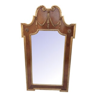 LaBarge Tortoise Shell Gilt Neoclassical Mirror For Sale