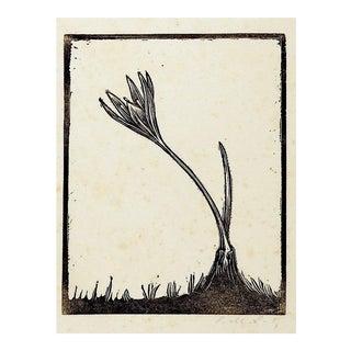 Crocus Woodblock Print For Sale