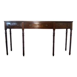 Early 19th Century English Country Mahogany 3 Drawer Sideboard For Sale