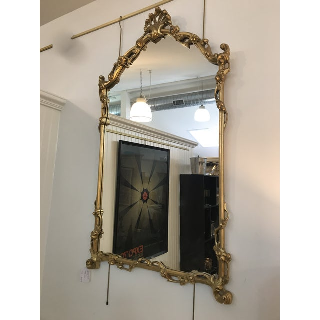 Chinoiserie Gold Carved Wall Mirror For Sale - Image 12 of 13