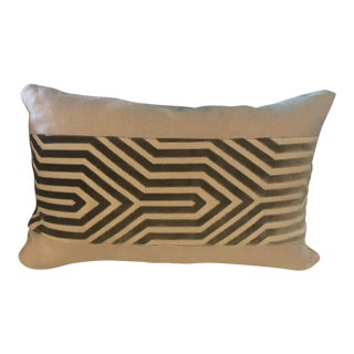 Natural Linen Lumbar Pillow For Sale