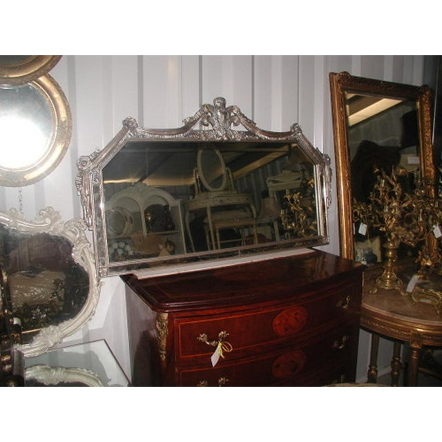 Early 20th-C. Silver Floral Swag Mirror - Image 7 of 8