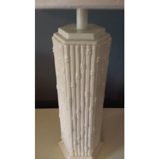 Blanc de Chine Faux Bamboo Lamp - Image 4 of 6
