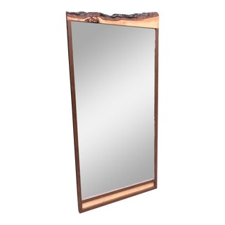 Custom Walnut Organic Mirror by Flavor Custom Design For Sale