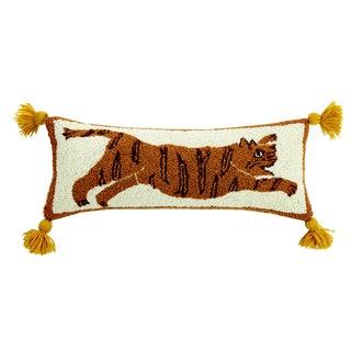 Tiger Pom Pom Hooked Wool Pillow