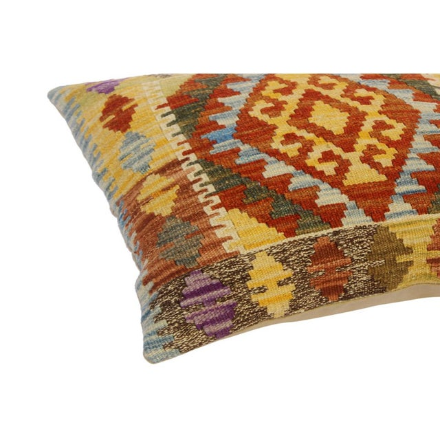 Embellish your home with this timeless casual chic handmade Southwestern Kilim throw pillow covers made with wool and...