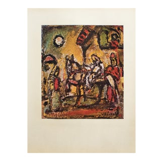 """1950s Georges Rouault, """"The Flight Into Egypt"""" Original Period Lithograph For Sale"""