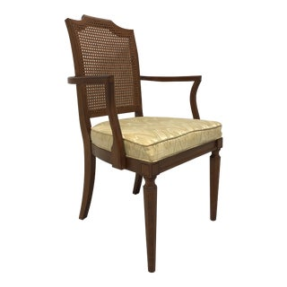 Louis XVI Style Adriano Cherry Dining Armchair by Davis Cabinet Co For Sale