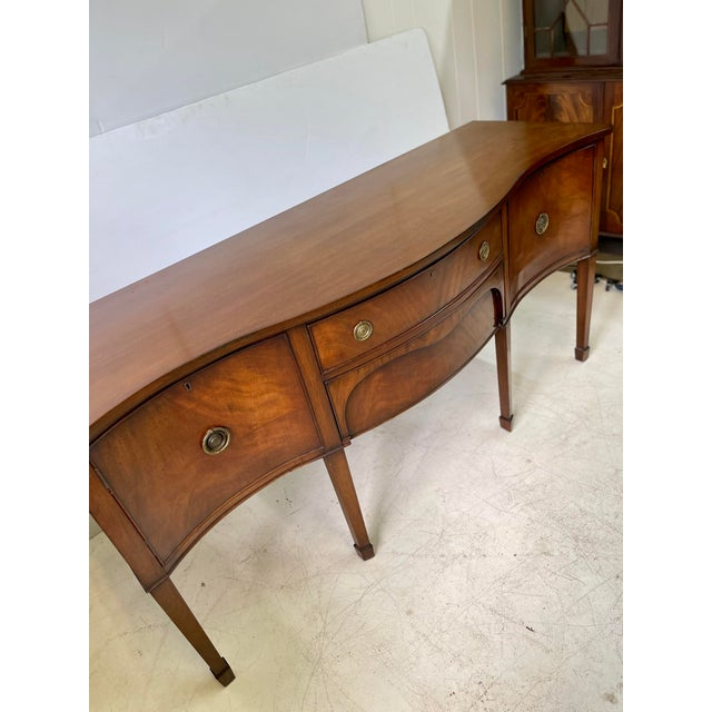 English George III Style Sideboard of Mahogany For Sale - Image 9 of 13