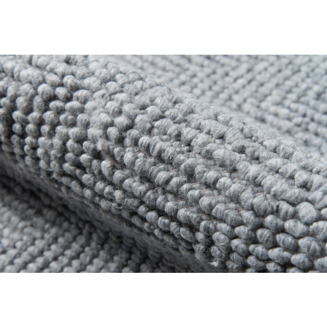 """Contemporary Erin Gates by Momeni Ledgebrook Washington Grey Runner Hand Woven Area Rug - 2'3"""" X 8' For Sale - Image 3 of 7"""