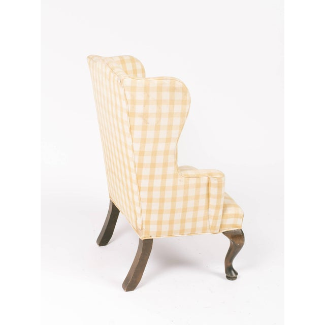 Wood 1970s Vintage Children's Wing Chair For Sale - Image 7 of 8
