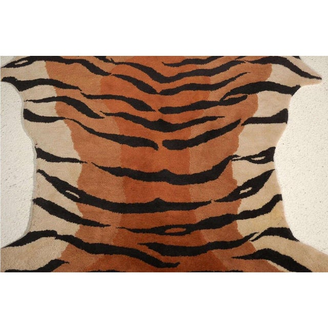 Vintage Wool Tiger Rug - Image 6 of 6