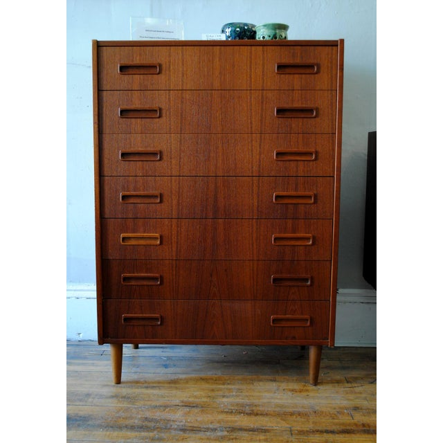 Danish Modern Teak 7 Drawer Chest | Chairish