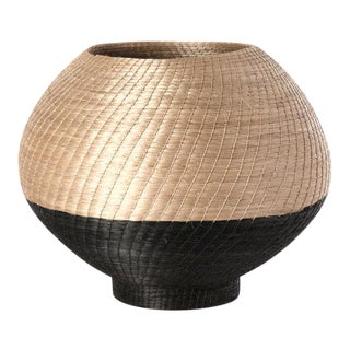 Small Halo Vase Flax/black For Sale