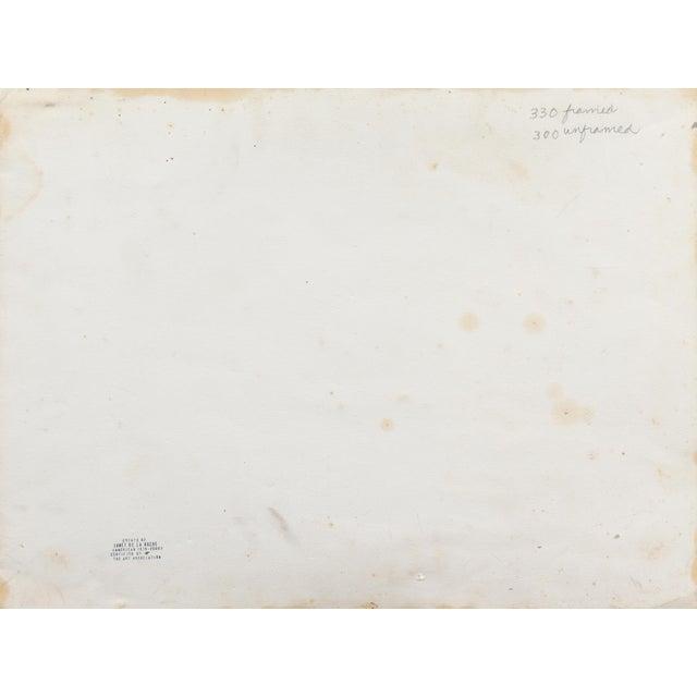 Slate Gray 'Still Life With Plums' by Janet Ament De La Roch; Salon D'Automne, Paris, California Woman Artist, Lacma For Sale - Image 8 of 9