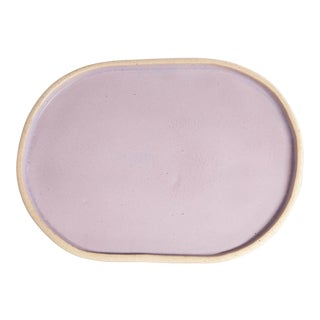 Luna Oval Tray, Lavender For Sale