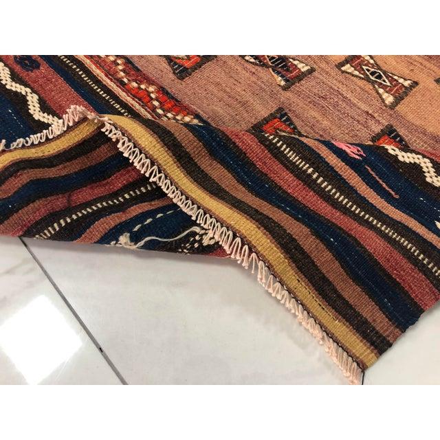 Rug & Kilim Turkish Handwoven Vintage Kilim Rug - 3′8″ × 4′10″ For Sale - Image 4 of 11