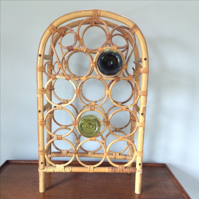 Vintage Bamboo Wine Rack - Image 10 of 11