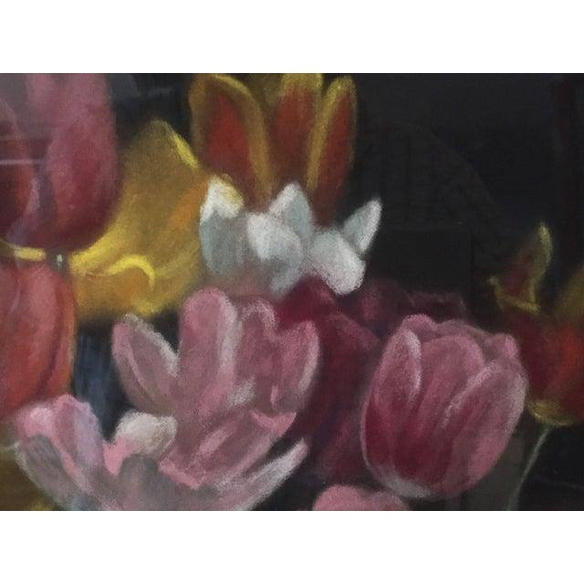 Vintage Pastel Tulip Still Life For Sale - Image 7 of 9