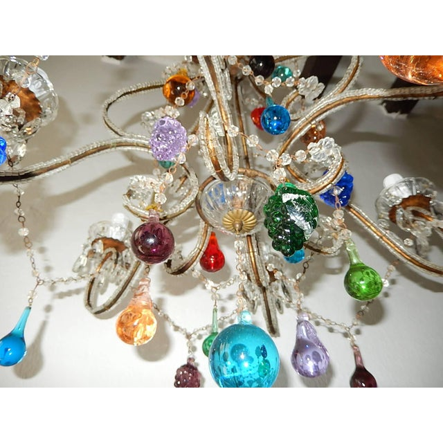 Italian Beaded Murano Colorful Fruit Chandelier, 1920 For Sale - Image 11 of 12