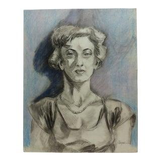"1950s Vintage Tom Sturges Jr. ""Lovely Lady"" Color Drawing For Sale"