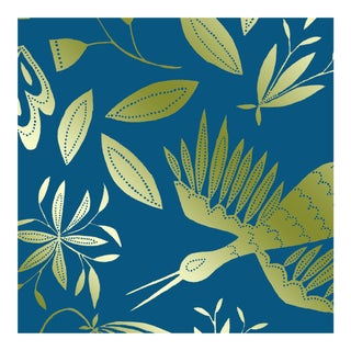 Julia Kipling Otomi Grand Wallpaper, Sample, in Virgo, Gold Flash For Sale