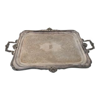 Estate Reed & Barton Silver Plate Serving Tray