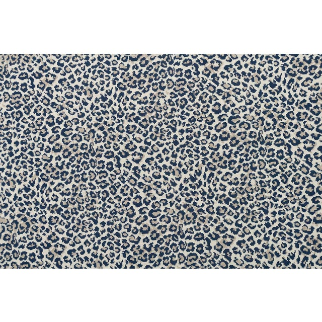 "White Stark Studio Rugs, Wildlife, Cobalt, 2'6"" X 12' For Sale - Image 8 of 8"