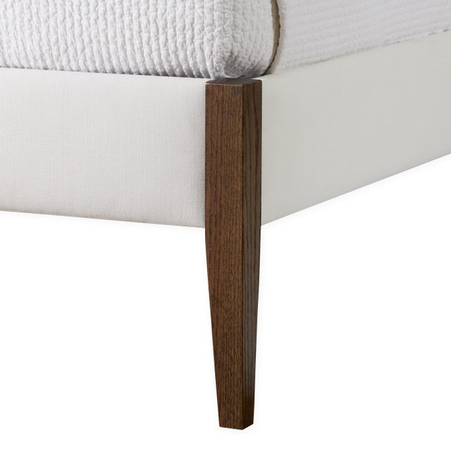 Modern The Crown Bed - King - Charlotte - Belgian Linen, Optic White For Sale - Image 3 of 6