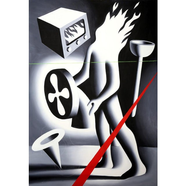 Mark Kostabi Mark Kostabi, Is Gramercy Park Burning?, 1987 For Sale - Image 4 of 4
