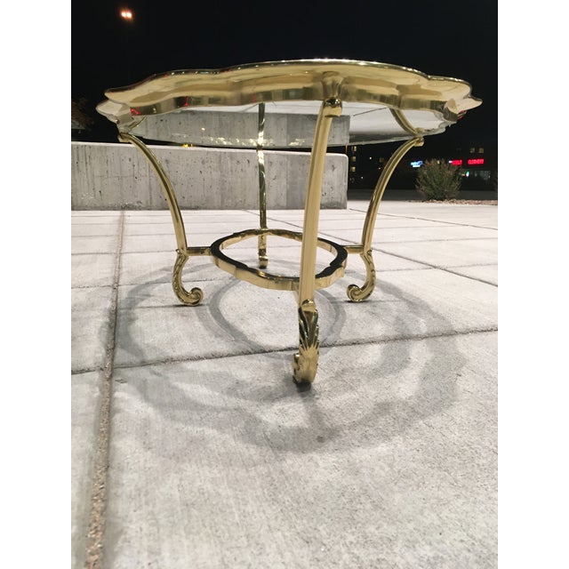 Vintage brass and glass coffee table by Labarge, made in Italy, circa 1970s