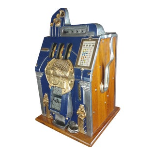 Mills 5c Beautiful 1930s Vintage Jack Pot Slot Machine For Sale