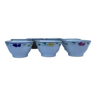 Mid-Century Desimone Ceraminter Italian Hand-Painted Bowls- Set of 8 For Sale