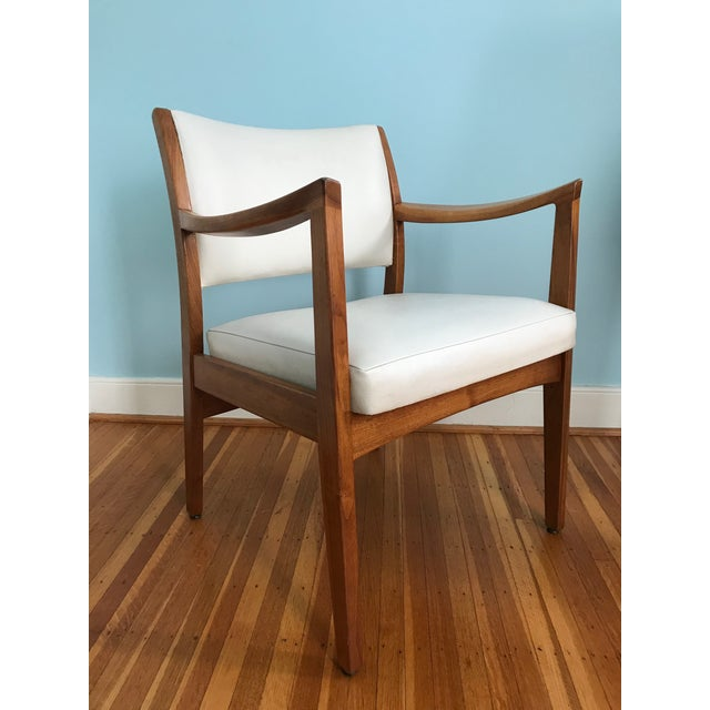 1960s Danish Modern Johnson Chair Co. Walnut Arm Chair For Sale - Image 11 of 11