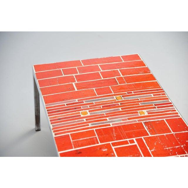 1960s Rogier Vandeweghe Amphora Ceramic Tiles Coffee Table For Sale - Image 5 of 10