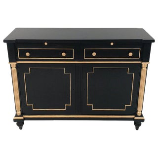 Maison Jansen Style Black Lacquer and Gilt Cabinet or Server For Sale