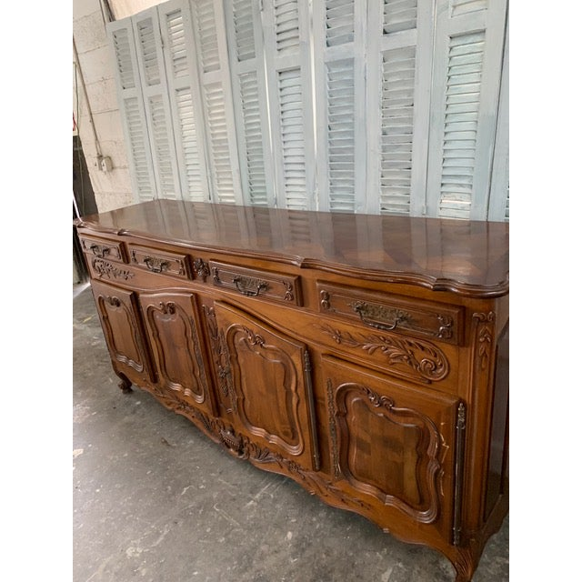 Wood 19th Century Louis XV Style Enfilade Buffet For Sale - Image 7 of 12