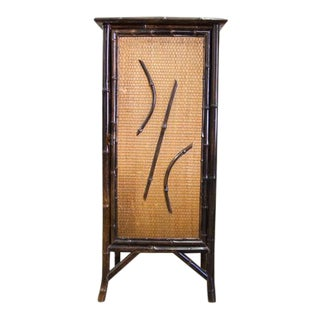 Late 19th Century English Bamboo and Raffia Cabinet For Sale