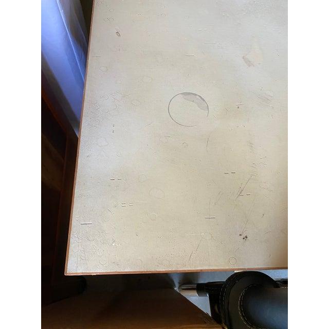 Jens Risom Early Teak, Metal and Vinyl Oversized Desk For Sale - Image 11 of 12