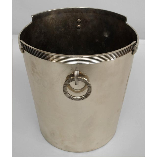 1930s American Art Deco Chrome Plated Champagne Bucket For Sale - Image 5 of 5