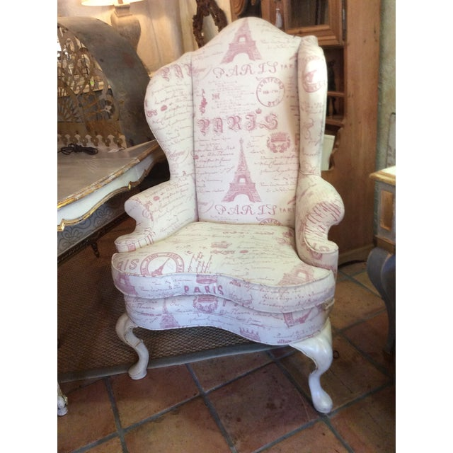 Sculptured Paris Inspired Wingback Chair - Image 2 of 6