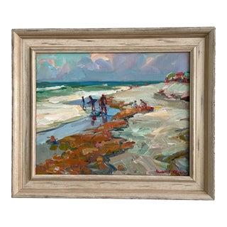 """Sargassum"" Seascape Oil Painting by James P. Kerr, Framed For Sale"