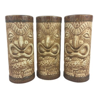 Vintage Tiki Barware Glasses - Set of 3