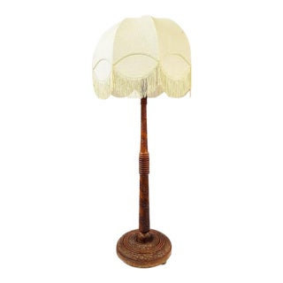 Vintage French Wood Floor Lamp