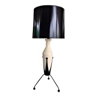 Elegant Mid-Century Tripod French Lamp For Sale